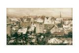 Berliner Hinterhaeuser Im Schnee Giclee Print by Adolph von Menzel