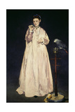 Woman with Parrot 1866 Giclee Print by Edouard Manet