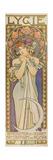 "Plakat Fuer Die Tanzgruppe ""Lygie"" Paris, 1901, (Oberer Teil) Prints by Alphonse Mucha"
