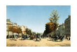 Blick Vom Place D'Etoile in Die Belebten Champs Elysées, 1878 Giclee Print by Edmond Georges Grandjean