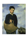 Boy with a Basket and Dog, 1860 Giclee Print by Edouard Manet