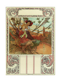 Chocolat Masson, Chocolat Mexicain, Paris in 1897 Giclee Print by Alphonse Mucha
