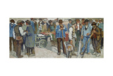 Marketday, Geneva, 1906 Giclee Print by Edouard Vallet