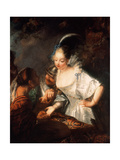 The Gypsy Fortune Teller, Ca. 1710 Giclee Print by Antoine Pesne