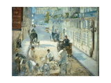 The Rue Mosnier with Pavers, 1878 Prints by Edouard Manet