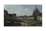 The Neumarkt in Dresden as Seen from the Moritz-Strasse, 1749-51 Giclee Print by  Canaletto
