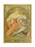 """Werbeplakat Fuer Die """"Société Populaire Des Beaux-Art"""", 1897 Prints by Alphonse Mucha"""