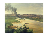View of the River Elbe, C. 1870 Giclee Print by Christian Friedrich Gille