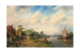 A River Landscape in Summer, 1853 Giclee Print by Charles Henri Joseph Leickert