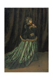 Camilla, 1866 Reproduction procédé giclée par Claude Monet