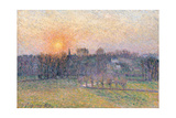 Sunset over a Landscape with Trees, 1892 Giclee Print by  Canaletto