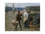 The Little Traders, 1900 Giclee Print by Charles Chocarne-Moreau