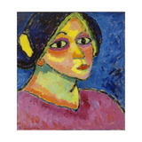 The Girl with the Bonnet, 1910 Giclee Print by Alexej Von Jawlensky