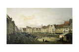 The Altmarkt in Dresden Seen from the Seegasse, c. 1751 Giclee Print by  Canaletto