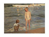 Bathing Children at the Beach of Valencia, 1910 Giclee Print by Joaquin Sorolla