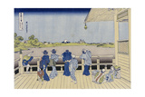 Sazai Hall of Five-Hundred-Rakanji Temple Posters by Katsushika Hokusai