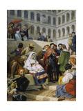 Raphael in the Vatican Poster von Emile Jean Horace Vernet