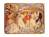 Amants, 1895 Giclee Print by Alphonse Mucha