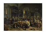 Dance in a Large Tavern, 1676 Art by Jan Steen