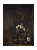 Chef Preparing Food Giclee Print by Hendrik Martensz Sorgh