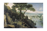 View of Linz Giclee Print by Lucas I. van Valckenborch