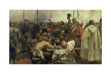 The Zaporozhye Cossacks Writing a Letter to the Turkish Sultan, 1880-91 Giclee Print by Ilja Efimowitsch Repin