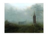 Procession in the Mist, 1828 Giclee Print by Ernst Ferdinand Oehme