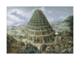 Tower of Babel, 1595 Giclee Print by Maerten I.van Valckenborch