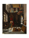 St. Jerome in His Study Giclee Print by Hendrick Steenwijk