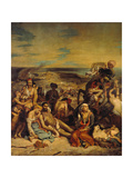 Scenes from the Massacre of Chios, 1822 Giclee Print by Eugène Delacroix