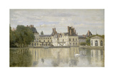 View of the Castle Fontainebleau Giclee Print by Jean-Baptiste-Camille Corot