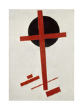 Red Cross on Black Circle, after 1914 Giclée-tryk af Kasimir Malevich