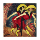 Dancers in Red, 1914 Giclee Print by Ernst Ludwig Kirchner