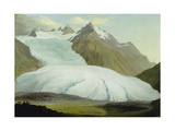 The Rhone Glacier Above Gletsch, 1778 Giclee Print by Caspar Wolf