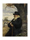 Portrait of the Poet Heinrich August Hoffmann Von Fallersleben, 1898 Impression giclée par Ernst Henseler