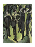 Five Women on the Street, 1913 Reproduction procédé giclée par Ernst Ludwig Kirchner