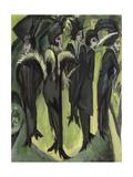 Five Women on the Street, 1913 Impression giclée par Ernst Ludwig Kirchner