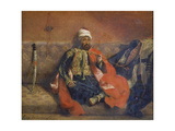 A Turk Smoking Sitting on a Sofa, C. 1840 Giclee Print by Eugène Delacroix