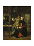 Portrait of the Artist with His Wife Isabella De Wolff in a Tavern, 1661 Giclee Print by Gabriel Metsu