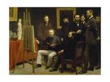 Un Atelier Aux Batignolles, 1870 Giclee Print by Henri De Fantin-latour