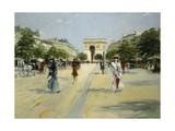 Paris, Avenue Du Bois De Boulogne Giclee Print by Georges Stein