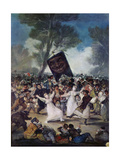 Carnival Scene: the Burial of the Sardine (El Entierro De La Sardina), C. 1812-1819 Giclee Print by Francisco de Goya