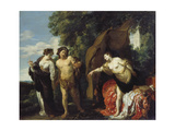 Hercules at the Crossroads, Ca. 1625 Giclee Print by Johann Liss
