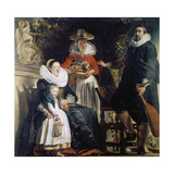 Family Jordaens in the Garden Giclee Print by Jacob Jordaens