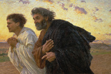 On the Morning of the Resurrection, the Disciples Peter and John on their Way to the Grave Giclee Print by Eugene Burnand