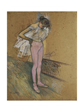 A Dancer Adjusting Her Leotard, 1890 Láminas por Henri de Toulouse-Lautrec