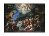 The Baptism of Christ Giclee Print by Johann Rottenhammer