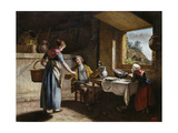 Farmhouse Room in the Morning, 1805 Giclee Print by Martin Drölling