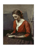 Reading Girl, C. 1845-50 Posters by Jean-Baptiste-Camille Corot