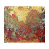 The House in Giverny, Composition in Red C. 1922 Giclee Print by Claude Monet